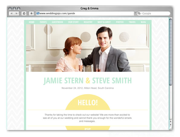 Wedding Websites Ideas: Wedding Website Welcome Page