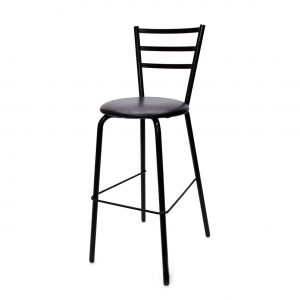 Black Bar Stool With Back 29in.